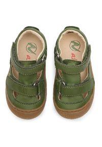 Naturino - Sandały NATURINO - Puffy 0012013359.01.0F06 M Kaki. Kolor: zielony. Materiał: skóra, nubuk. Sezon: lato. Styl: wakacyjny