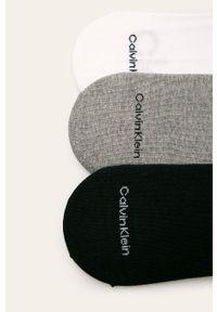 Szare skarpetki Calvin Klein z nadrukiem