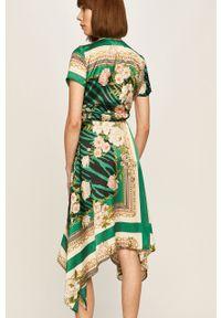 Wielokolorowa sukienka Morgan z krótkim rękawem, w kwiaty, midi