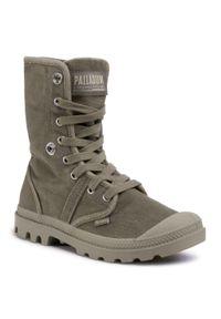 Zielone buty trekkingowe Palladium z cholewką