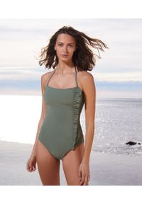 Brązowy strój kąpielowy Etam z aplikacjami