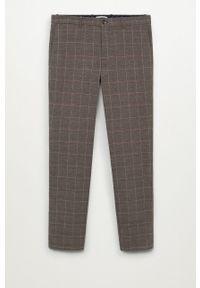 Mango Man - Spodnie Brest. Kolor: brązowy