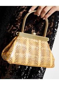 CULT GAIA - Torebka na ramię Estelle Mini. Kolor: żółty. Wzór: aplikacja. Materiał: zdobione. Rodzaj torebki: na ramię