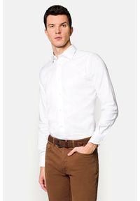 Lancerto - Koszula Biała Ingrid 2. Okazja: na co dzień. Kolor: biały. Materiał: bawełna, tkanina. Wzór: haft. Styl: klasyczny, elegancki, casual
