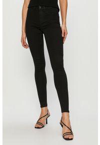 Czarne jeansy Vila gładkie