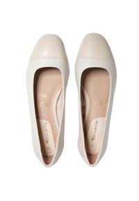 Białe baleriny Tamaris z cholewką, klasyczne
