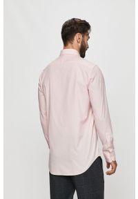 Różowa koszula Tommy Hilfiger Tailored z długim rękawem, na co dzień, z włoskim kołnierzykiem, casualowa