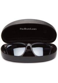 Szare okulary przeciwsłoneczne Polo Ralph Lauren