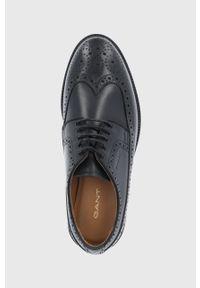 GANT - Gant - Półbuty skórzane Flairville. Nosek buta: okrągły. Zapięcie: sznurówki. Kolor: czarny. Materiał: skóra