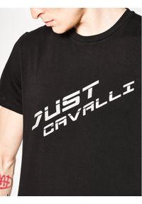 Czarny t-shirt Just Cavalli