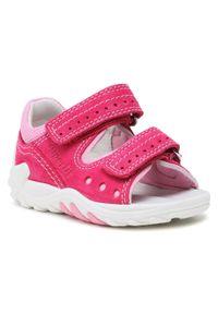 Superfit - Sandały SUPERFIT - 1-600030-5000 S Rot/Rosa. Kolor: różowy. Materiał: skóra, zamsz, materiał. Sezon: lato