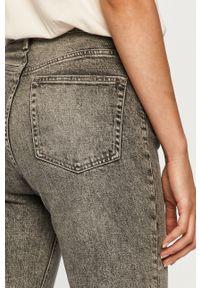 Szare jeansy TALLY WEIJL casualowe, z podwyższonym stanem