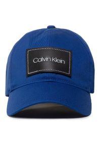 Calvin Klein - Czapka z daszkiem CALVIN KLEIN - Leather Patch Bb Cap K50K505490 CEN. Kolor: niebieski. Materiał: materiał, bawełna