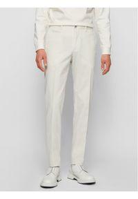 BOSS - Boss Chinosy Broad1-W 50447070 Beżowy Slim Fit. Kolor: beżowy