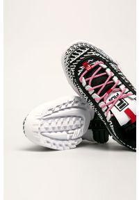 Czarne buty sportowe Fila z cholewką, na sznurówki
