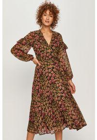 Wielokolorowa sukienka Polo Ralph Lauren midi, w kwiaty