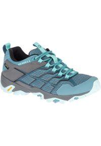 Buty turystyczne damskie Merrell Moab FST wodoodporne. Materiał: nubuk. Szerokość cholewki: normalna
