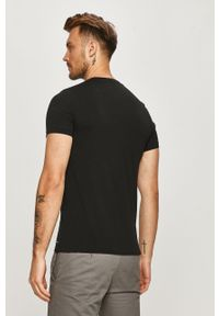 Czarny t-shirt AllSaints na co dzień, casualowy