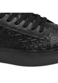 Czarne sneakersy Calvin Klein z cholewką, na płaskiej podeszwie