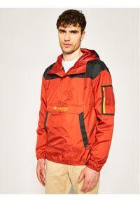 Pomarańczowa kurtka do biegania columbia