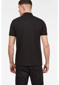 Czarna koszulka polo G-Star RAW casualowa, krótka