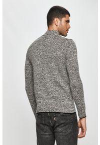 Calvin Klein - Sweter. Okazja: na co dzień. Kolor: szary. Długość rękawa: długi rękaw. Długość: długie. Wzór: aplikacja. Styl: casual