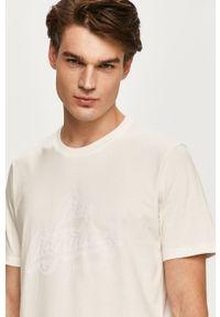 Biały t-shirt Lee z aplikacjami, z okrągłym kołnierzem