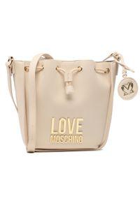Beżowa torebka worek Love Moschino skórzana