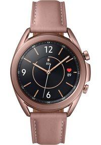 Brązowy zegarek SAMSUNG smartwatch