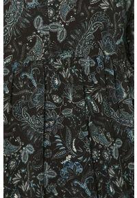 Czarna sukienka Haily's mini, w kwiaty