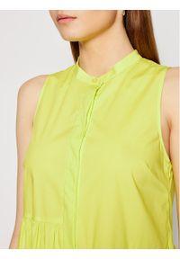 TwinSet Sukienka codzienna 211TT2458 Żółty Regular Fit. Okazja: na co dzień. Kolor: żółty. Typ sukienki: proste. Styl: casual