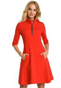 Sukienka MOE ze stójką, rozkloszowana