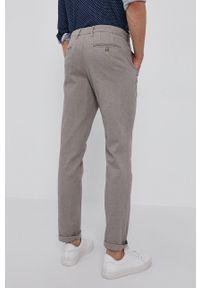 Selected - Spodnie. Kolor: szary. Materiał: tkanina, bawełna. Wzór: gładki
