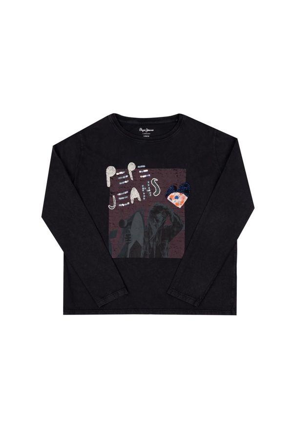 Czarna bluzka Pepe Jeans