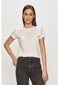 Biała bluzka Vila gładkie, casualowa