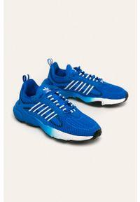 Niebieskie buty sportowe adidas Originals z cholewką