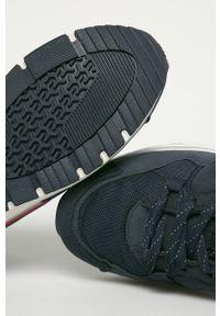 Niebieskie sneakersy Pepe Jeans na sznurówki, z cholewką, z okrągłym noskiem