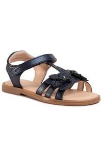 Niebieskie sandały Geox na lato, z aplikacjami