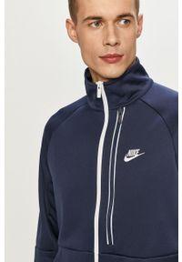 Niebieska bluza rozpinana Nike Sportswear casualowa, gładkie, na co dzień, bez kaptura
