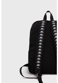 Czarny plecak Kappa gładki