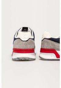 Niebieskie sneakersy Colmar z cholewką, na sznurówki, z okrągłym noskiem