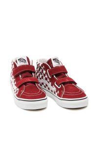 Vans - Sneakersy VANS - Sk8-Mid Reissue VN0A4UI599G1 (Checkerboard)Pmgrnttrwht. Kolor: czerwony. Materiał: zamsz, materiał, skóra