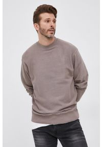 Drykorn - Bluza bawełniana Felix. Kolor: brązowy. Materiał: bawełna. Wzór: gładki