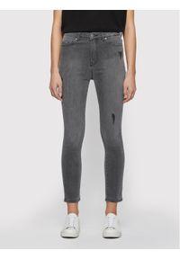 Szare jeansy slim BOSS