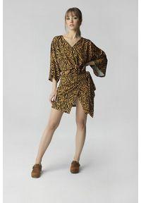 Madnezz - Spódnica Aga - tygrysi print. Materiał: wiskoza. Długość: długie. Wzór: nadruk