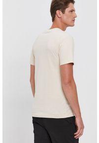 G-Star RAW - G-Star Raw - T-shirt bawełniany. Okazja: na co dzień. Kolor: beżowy. Materiał: bawełna. Wzór: aplikacja. Styl: casual