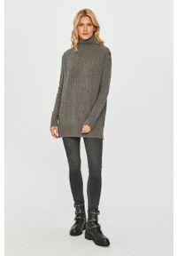 Szary sweter Polo Ralph Lauren polo, z długim rękawem, krótki