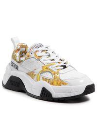 Versace Jeans Couture - Sneakersy VERSACE JEANS COUTURE - E0VWASF3 71953 MCI. Okazja: na spacer, na co dzień. Kolor: biały. Materiał: skóra ekologiczna. Szerokość cholewki: normalna. Sezon: lato. Obcas: na płaskiej podeszwie. Styl: casual. Sport: turystyka piesza