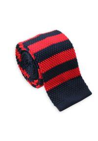 Czerwony krawat Alties w prążki, sportowy