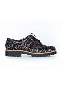 Srebrne półbuty Zapato na sznurówki, wąskie, eleganckie, na lato